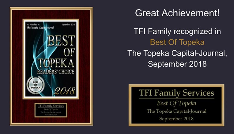 TFI Family Recognized with Best of Topeka Readers Choice Award