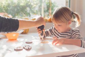 decorating cookies with someone who supports being a foster parents