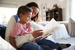 reading books with a foster mother