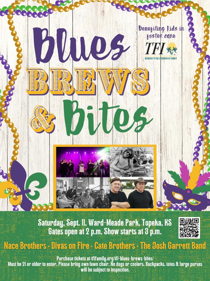 blues, brews, bites poster